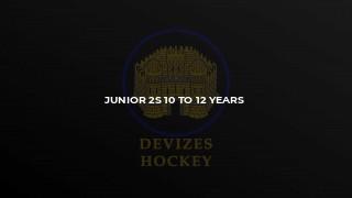 Junior 2s 10 to 12 years