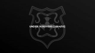Under 16 Rovers (2004/05)