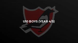 U10 Boys (Year 4/5)