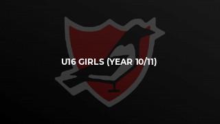 U16 Girls (Year 10/11)