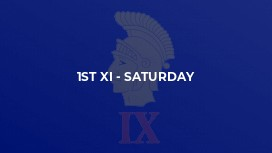 1st XI - Saturday