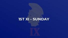 1st XI - Sunday