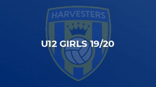 U12 Girls 19/20