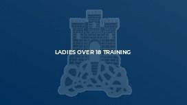 Ladies Over 18 Training