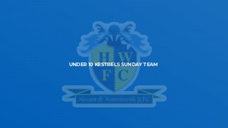 Under 10 Kestrels Sunday Team