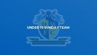 Under 15 Sunday Team