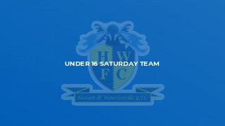 Under 16 Saturday Team