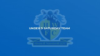 Under 9 Saturday Team