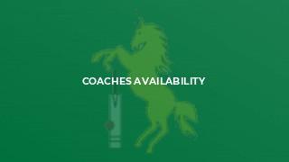Coaches Availability