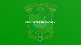 U12-U16 Training Only