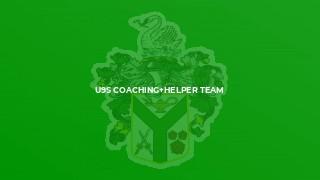U9s Coaching+Helper Team