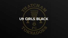 U9 Girls Black