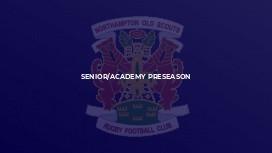 Senior/Academy Preseason