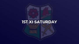 1st XI Saturday