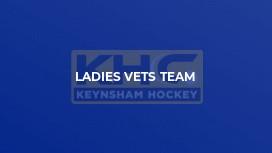 Ladies' Vets Team