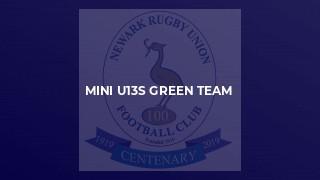 MINI U13S GREEN TEAM