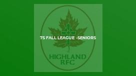 7s fall league -seniors