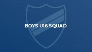 BOYS U16 SQUAD