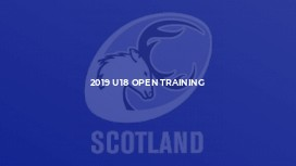 2019 U18 Open Training