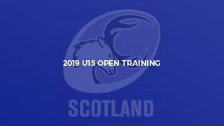 2019 U15 Open Training