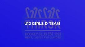 U12 Girls D Team