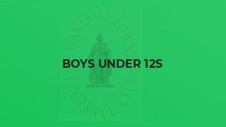 Boys Under 12s