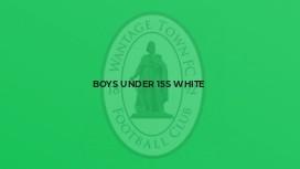 Boys Under 15s White