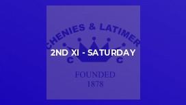 2nd XI - Saturday