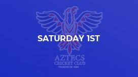 Saturday 1st