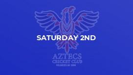 Saturday 2nd