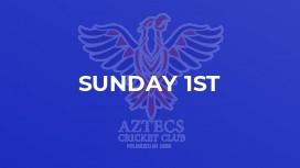 Sunday 1st
