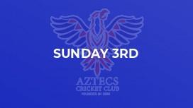 Sunday 3rd