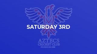 Saturday 3rd
