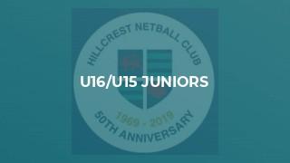 U16/U15 Juniors