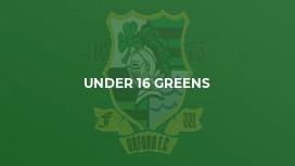 Under 16 Greens