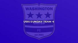 U13s Sunday Team 4
