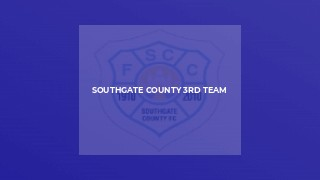 Southgate County 3rd Team