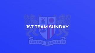 1st Team Sunday
