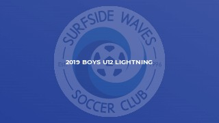 2019 Boys U12 Lightning