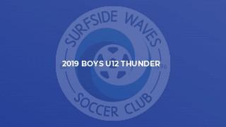 2019 Boys U12 Thunder