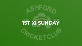 1st XI Sunday