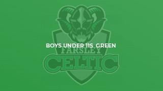 Boys Under 11s  Green