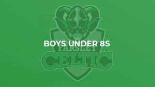 Boys Under 8s