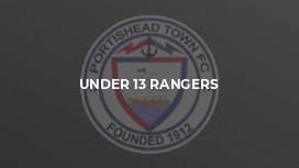 Under 13 Rangers