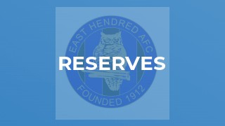 Reserves v Saxton Rovers Res
