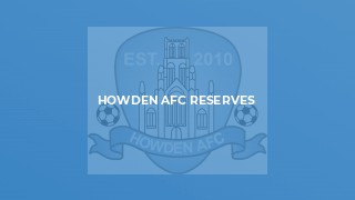 Howden AFC Reserves v Bridlington Rovers 1st