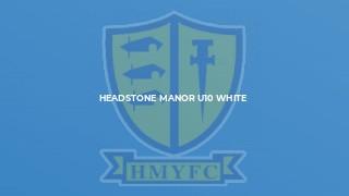 Headstone Manor U10 White