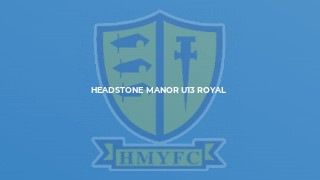Headstone Manor U12s v Princes Park White