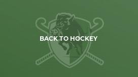 Back to Hockey