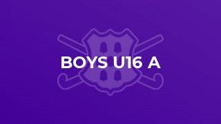 Boys U16 A